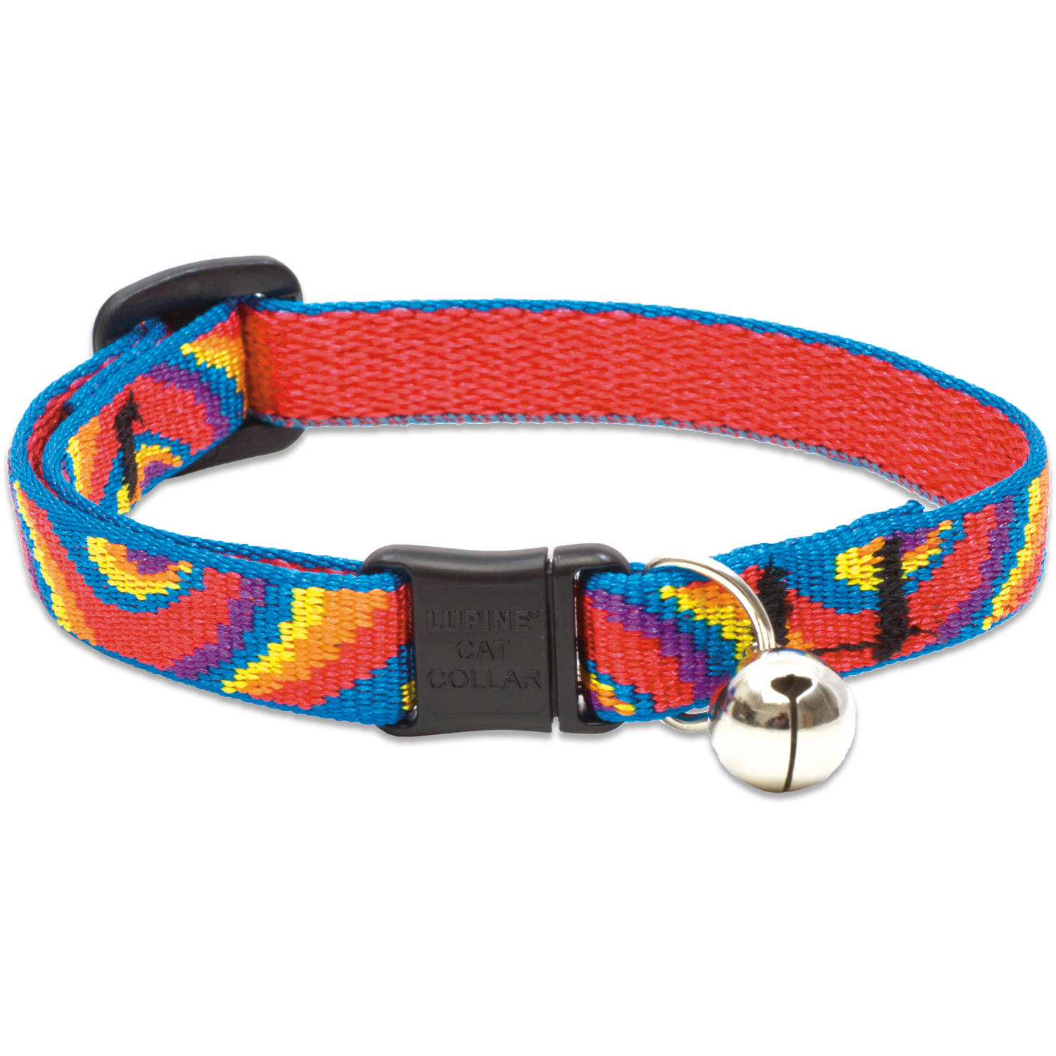 """Lupine Collars and Leads 10127 1 2 x 8""""-12"""" Lollipop Cat Collar with Bell by Generic"""