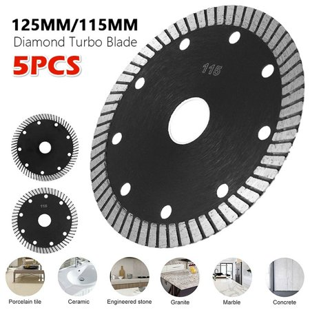 5 2Pcs 115 125mm Hot Pressed Sintered Mesh Turbo Diamond Saw Blade Cut