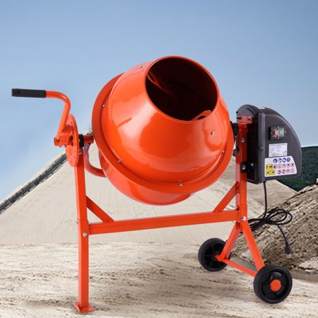 Jaxpety Portable Electric 2-1/5cuft Concrete Cement Mixer Barrow Machine Mixing (Electric Mortar Mixer)