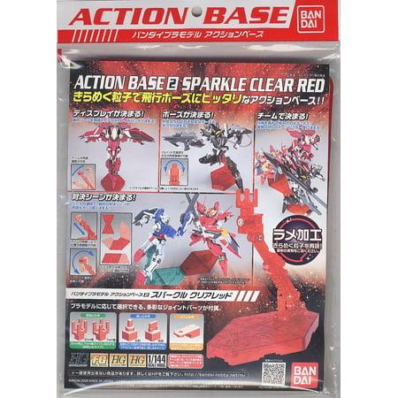 Bandai Hobby Gundam Action Base 2 Display Stand 1/144 Scale Sparkle Red (Diorama Display Base)