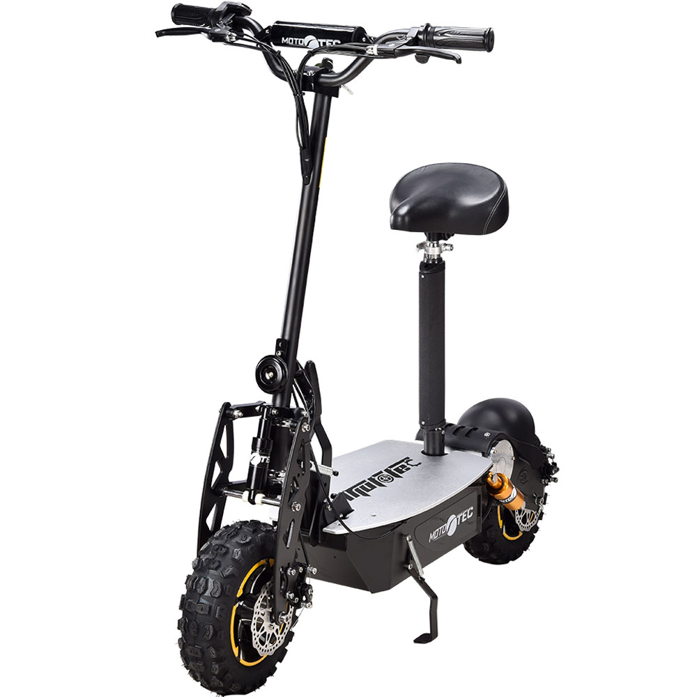 MotoTec 2000w 48v Electric Scooter, Black Non Ca by Big Toys USA