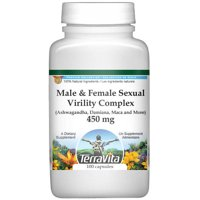 Male and Female Sexual Virility Complex - Ashwagandha, Damiana, Maca and More - 450 mg (100 capsules, ZIN: 517135) - 2-Pack