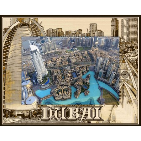 Dubai Laser Engraved Wood Picture Frame (5 x 7) (Dubai Gifts)
