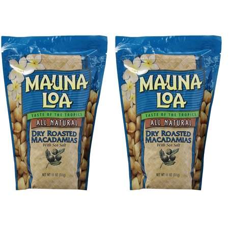 Mauna Loa Macadamias, mUpafK 2 Pack (Dry Roasted with Sea Salt)