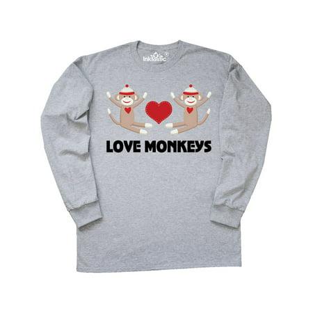 Love Monkeys Sock Monkey Long Sleeve T-Shirt - Long Armed Monkey