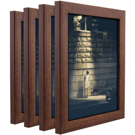 - Craig Frames Contemporary Honey Brown Picture Frame, Set of 4