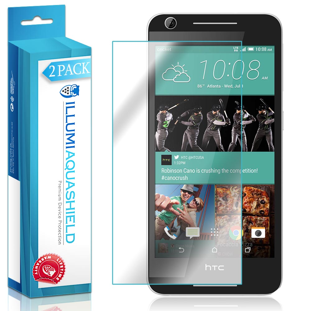 2x iLLumi AquaShield Clear Screen Protector Cover for HTC Desire 625