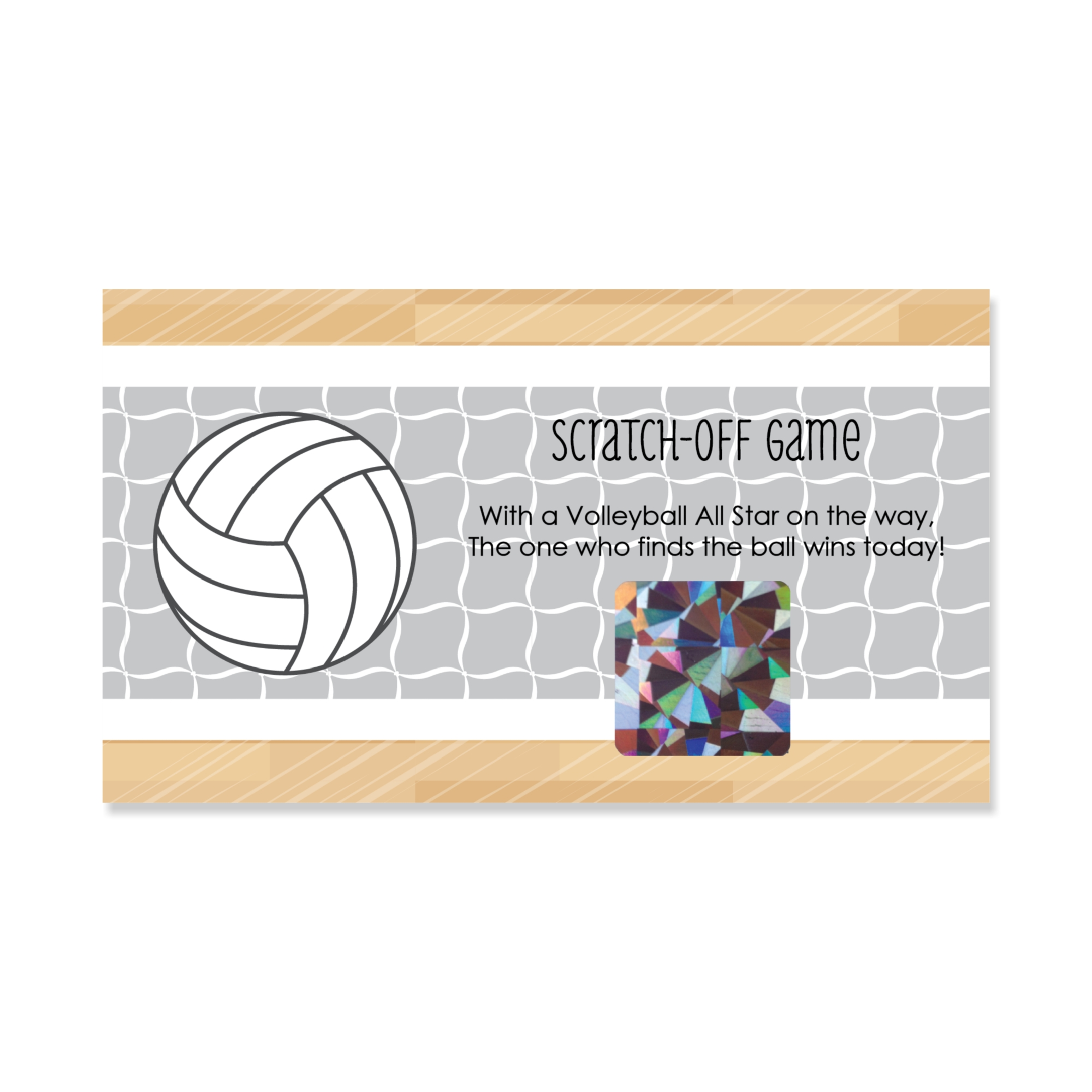 Bump, Set, Spike - Volleyball - Baby Shower or Birthday Party Game Scratch Off Cards - 22 Count