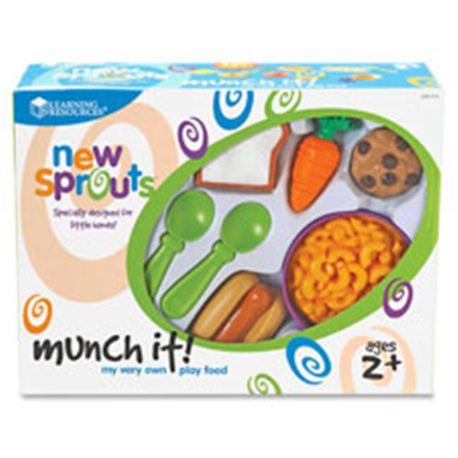 Learning Resources LRNLER7711 New Sprouts Munch It-Play Food Set, 20 Per Set