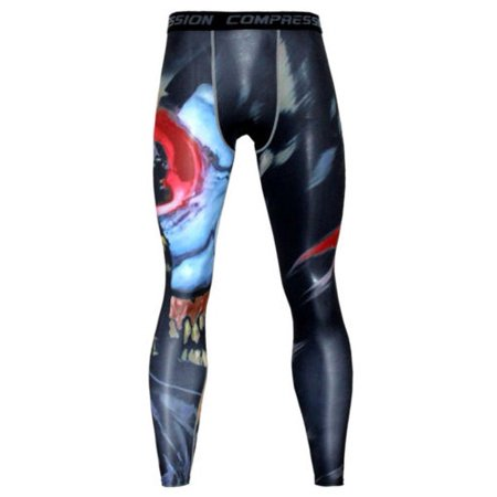 Tight Spandex Pants (Men's Fitness Jogging Pants Compression Under Tight Training Leggings GYM Sports)