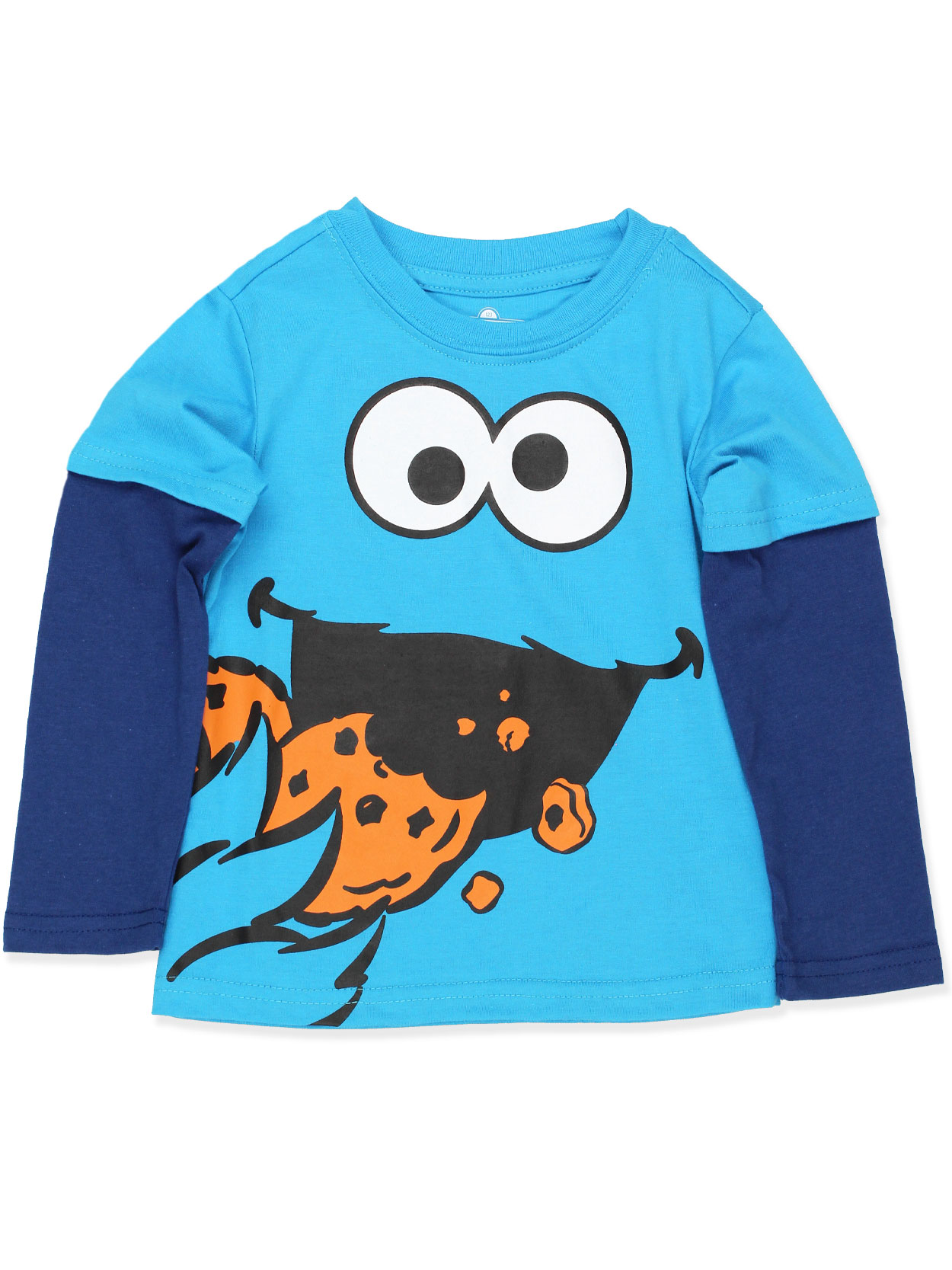 Sesame Street Cookie Monster Toddler Boys Long Sleeve Tee ASCB404