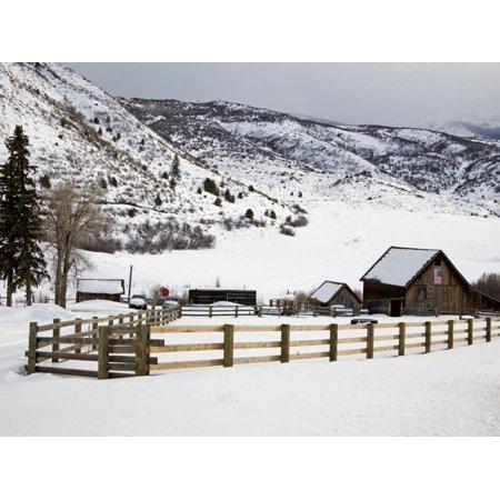 Barn Near Snowmass Village, Aspen Region, Rocky Mountains, Colorado, USA Print Wall Art By Richard Cummins