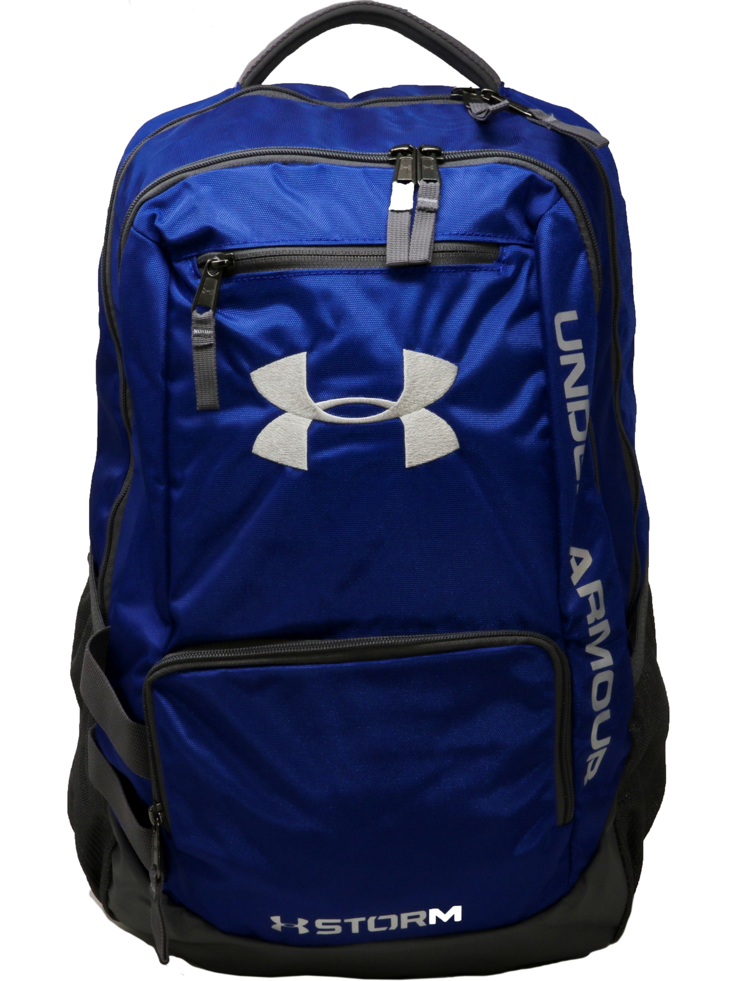 Under Armour - Team Hustle Polyester Backpack - Midnight Navy   Graphite -  Walmart.com 41213c4e34391