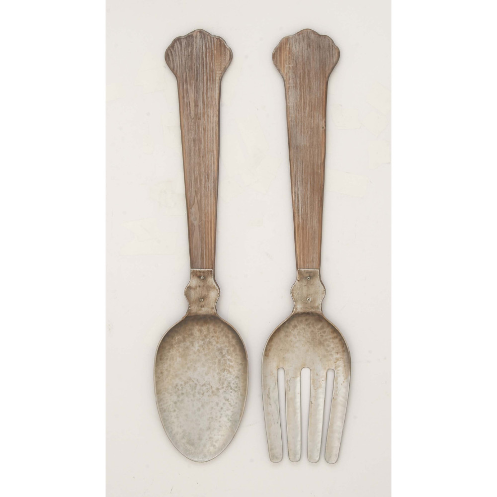 Wood Handled Rustic Utensil Decor Kitchen Wall Decor Set Of 2