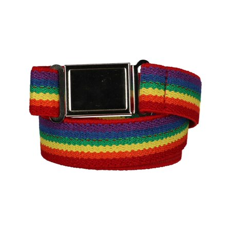 - Size one size Kids' Elastic Rainbow Adjustable Belt with Magnetic Buckle, Rainbow