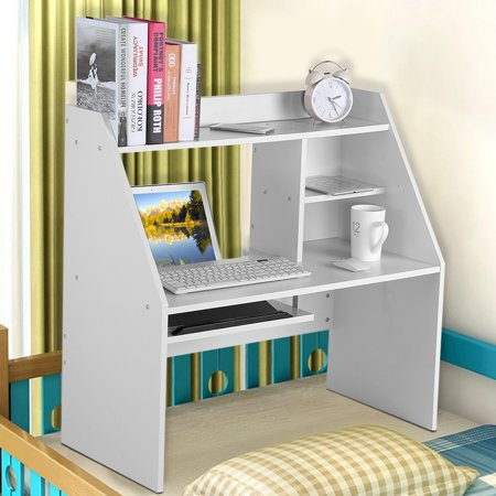 Yosoo Wooden Bed notebook computer Desk student dormitory use,White