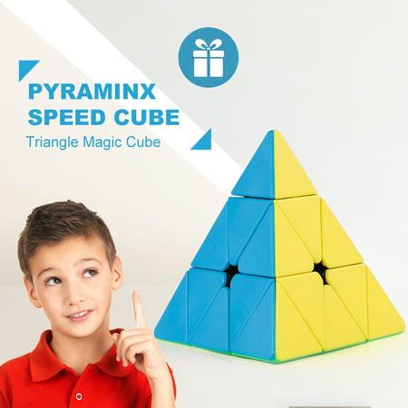 Magic Triangle (Pyraminx Speed Cube Triangle Magic Cube Pyramid Stickerless Cube Puzzle Cube for Beginners Kids )