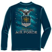 Erazorbits AIR FORCE USAF MISSLE Navy Adult Unisex T-Shirt