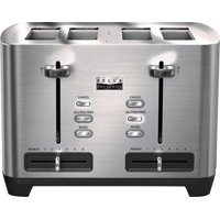 Bella - Pro Series 4-Slice Wide/Self-Centering-Slot Toaster - Stainless Steel