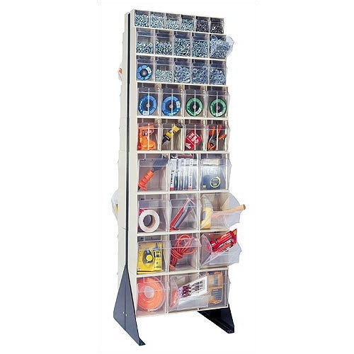 Quantum Storage 75'' Double Sided Floor Stand Storage Unit with Tip Out Bins