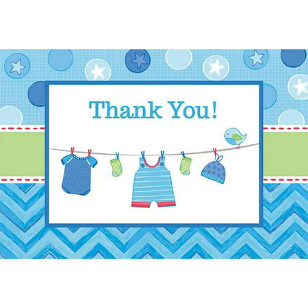Baby Shower Boy Shower with Love Thank You Notes, Pack of - Thank You Notes For Baby Shower