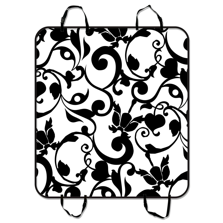 GCKG Black and White Damask Pattern Classic Vintage Frenc...