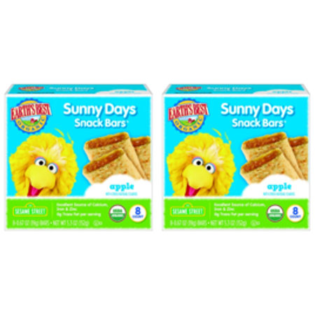 (12 Pack) Earth's Best Organic Sunny Day Toddler Snack Bars with Cereal Crust, Made With Real Apples - 8 - Halloween Snacks For Toddlers