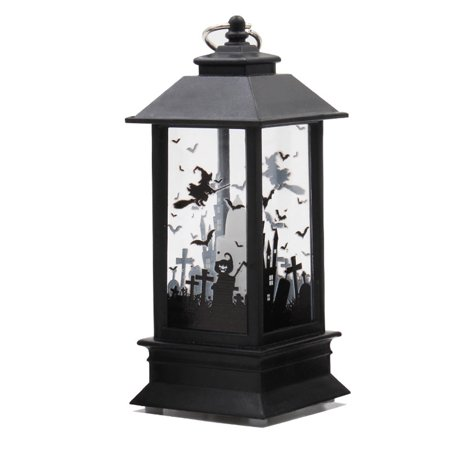 Halloween Simulation Flame Lamp Oil Light House Decoration Props Table Decoration Lamps