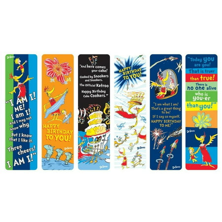 Raymond Geddes Dr. Seuss Happy Birthday To You Bookmark, 50 Pack