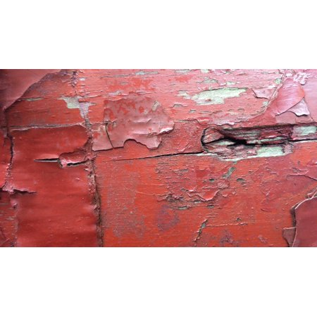 Canvas Print Color Layers Flaked Off Wood Red Weathered Lack Ab Stretched Canvas 10 x 14