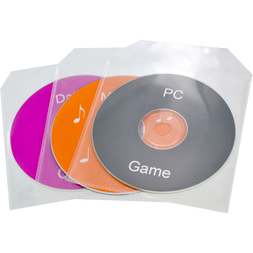 TekNmotion Single Disc Plastic Sleeves 100 pack, Clear