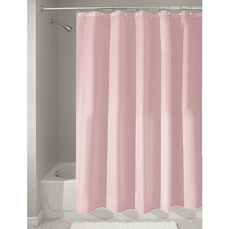 InterDesign Waterproof Fabric Shower Curtain Liner Standard 72 X Pink