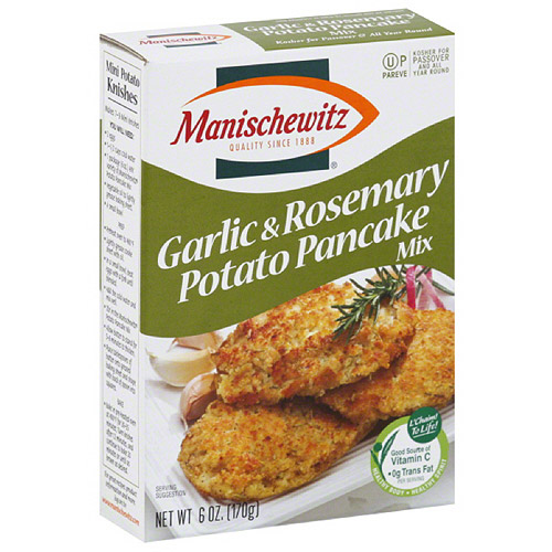 Manischewitz Garlic & Rosemary Potato Pancake Mix, 6 oz, (Pack of 12)