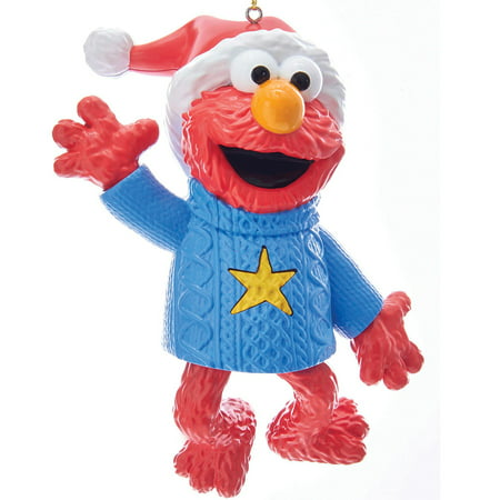 Elmo Holiday Sweater Light & Sound Ornament - 4