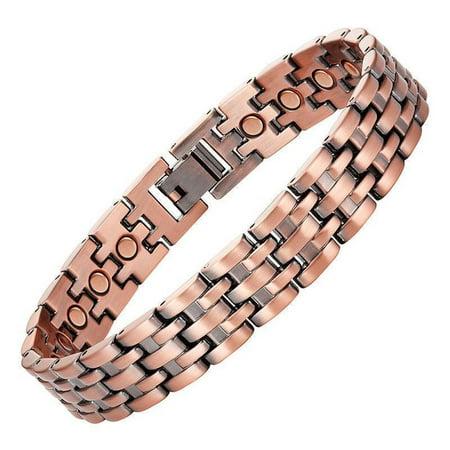 Copper Link Magnetic Bracelet for Men Pisa 9.5 Inches Mens Extra Long / Large Size Copper Magnetic Bracelet Box