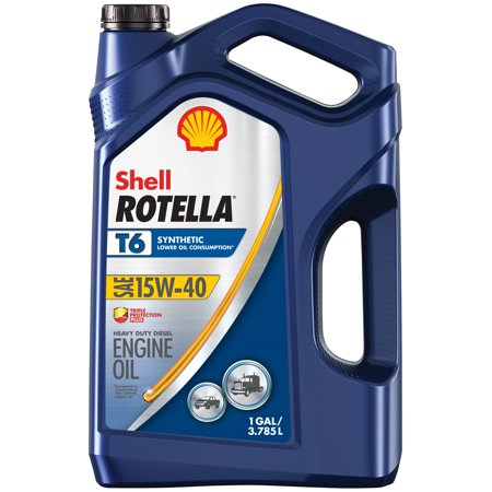 Shell Rotella T6 15W-40 Full Synthetic Diesel Engine Oil, 1