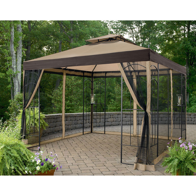 Garden Winds Replacement Canopy Top for the Winslow Arrow Gazebo Athena Gazebo and Double  sc 1 st  Walmart & Garden Winds Replacement Canopy Top for the Winslow Arrow Gazebo ...
