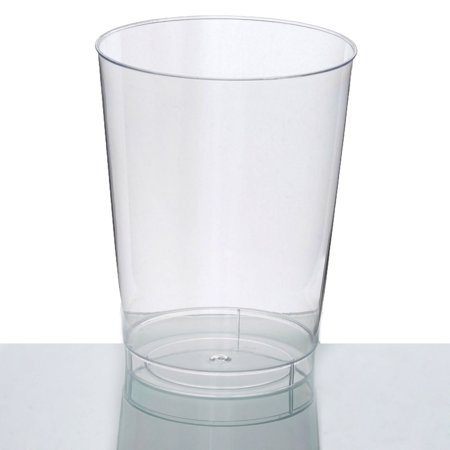 BalsaCircle Clear 25 pcs 10 oz Disposable Plastic Plastic Cups - Wedding Reception Party Buffet Catering Tableware - Glow Plastic Cups