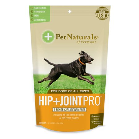 Pet Naturals of Vermont Hip + Joint PRO, Daily Hip and Joint Supplement for Large Dogs, 60 Bite-Sized
