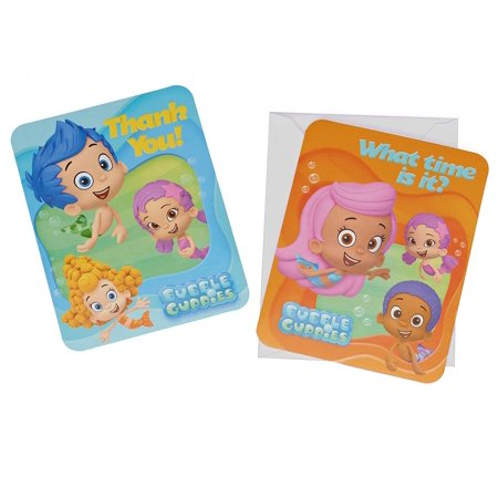 Bubble Guppies Party Invite and Thank You Combo Pack, 8ct