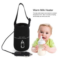 LAFGUR Milk Warmer,Portable Quickly Baby Milk Travel Cup Heater DC 12V in Car baby Bottle Heaters ,Bottle Heated Cover
