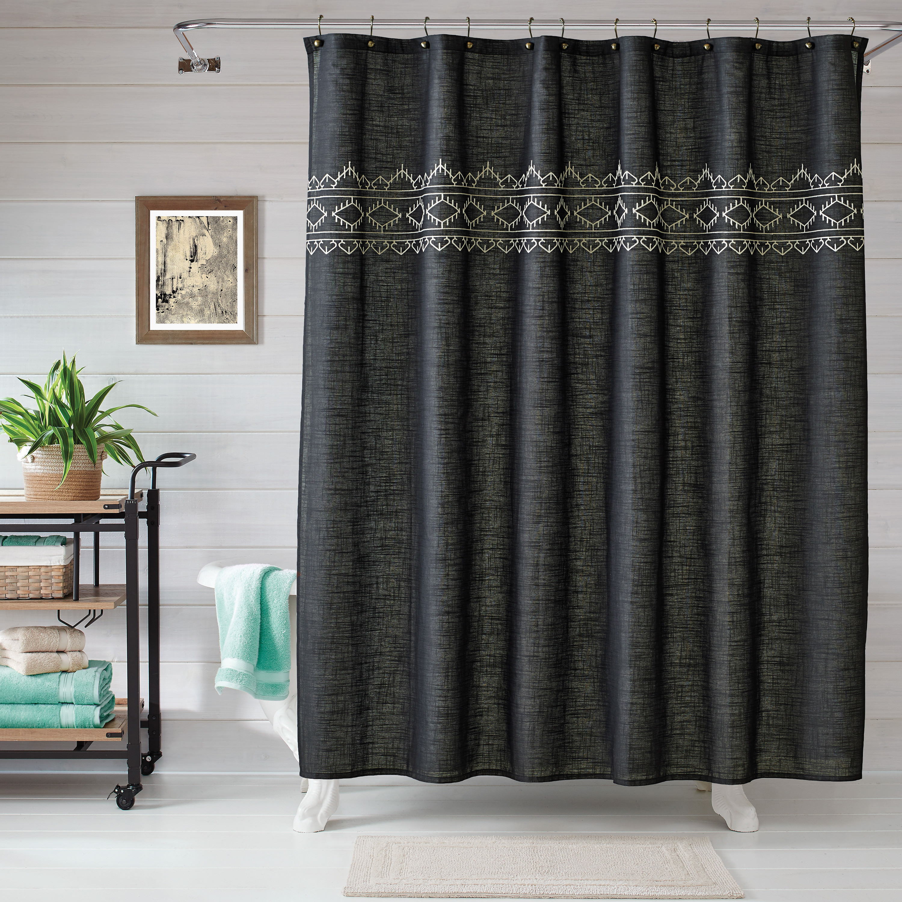 Better Homes and Gardens Wandering Ikat Shower Curtain
