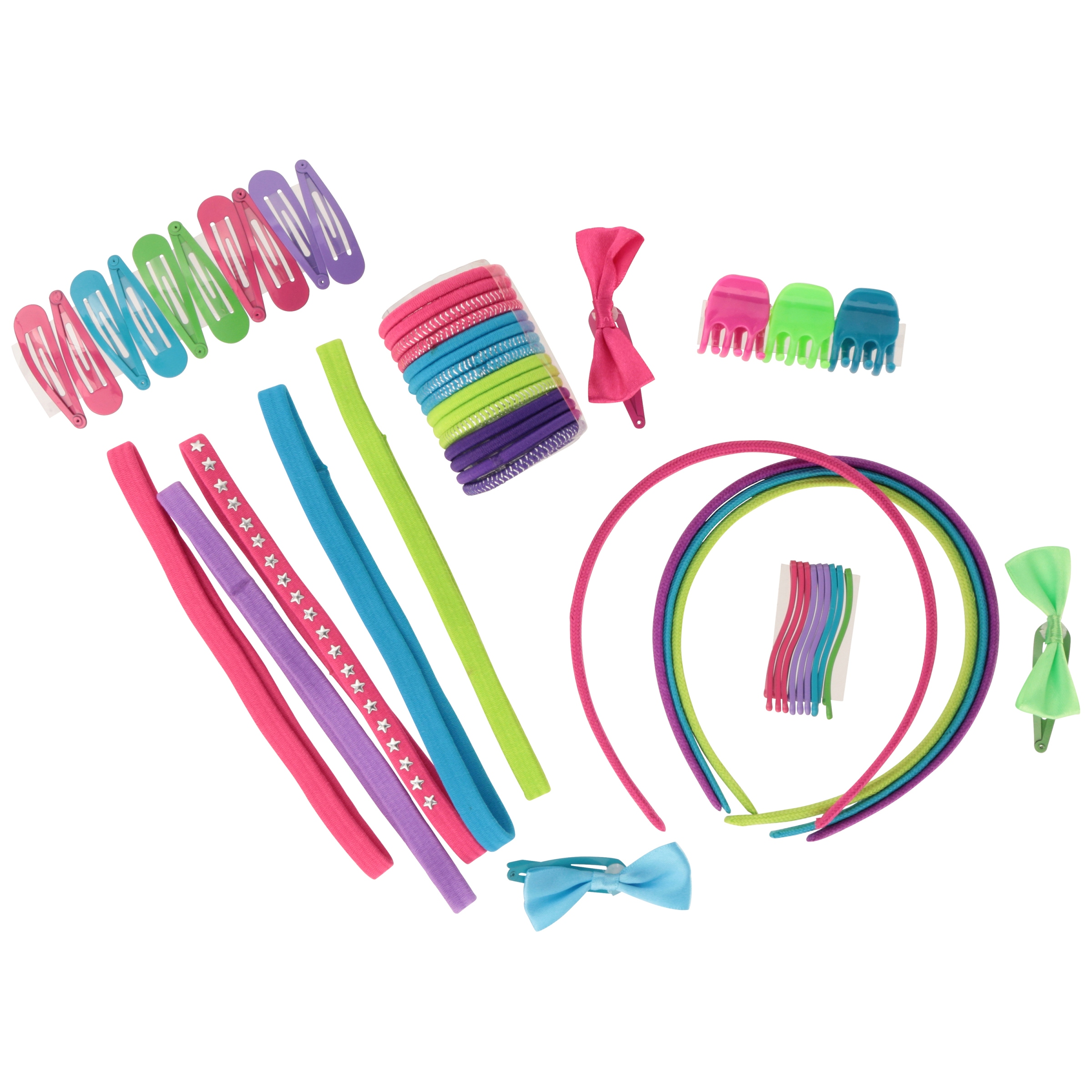 Enchanté Accessories Kids Hair Accessories Set with Bonus Bag 50 pc Pack