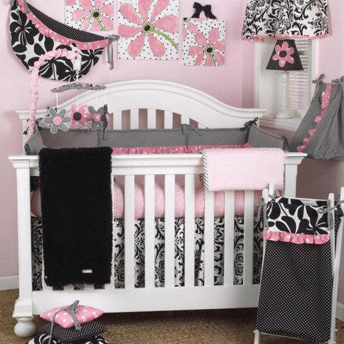 Cotton Tale Girly 4 Piece Crib Bedding Set