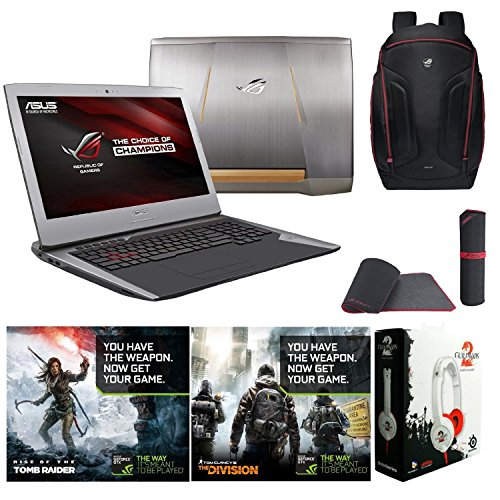 ASUS ROG G752VT-DH74 17.3-inch Gaming Laptop, NVIDIA GeForce 970M 6GB, Intel Skylake Core i7-6700HQ, 32GB DDR4, 256GB NV