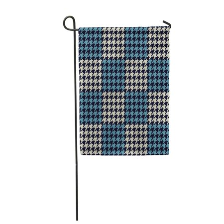 LADDKE Checkered Woolen Pattern Classical English Hounds Tooth for Coats Jackets Plaids Garden Flag Decorative Flag House Banner 28x40 inch