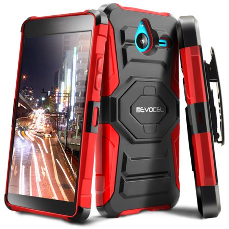 Nokia Lumia 640 Xl Case  Evocel  New Generation  Rugged Holster Dual Layer Case  Kickstand  Belt Swivel Clip  For Nokia Lumia 640 Xl   Red