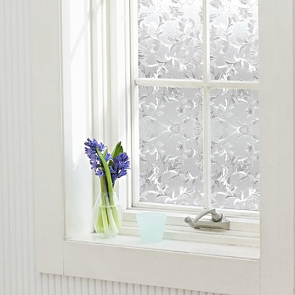 "LIVINGbasics™ 3D Static Decorative Privacy Window Films with Heat Control Anti UV , 24"" x 79"" - image 3 of 5"