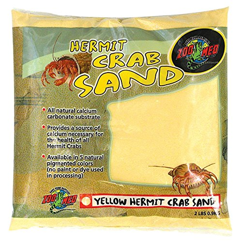 Laboratories SZMHC2Y Hermit Crab, 2-Pound, Sand Yellow, Natural Pigment colors By Zoo Med by