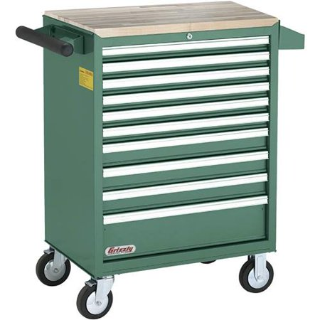 - Grizzly Industrial H7730 10 Drawer Rolling Tool Cabinet